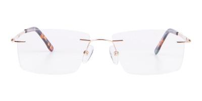 Gold Rimless Glasses Men & Women