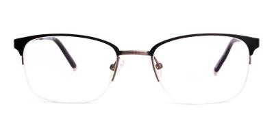 oval and rectangular black full rim glasses frames