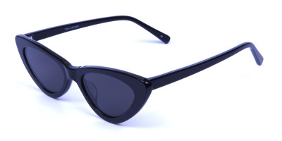 Black Narrow Cat Eye Sunglasses