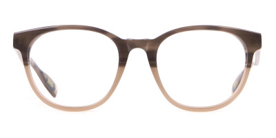 TED BAKER TB8197 Cade Glasses Classic Round in Grey Horn