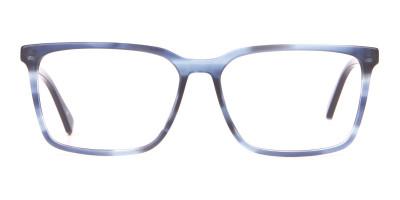 TED BAKER TB8209 ROWE Rectangular Glasses Blue & Black