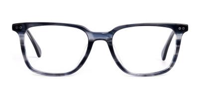 ocean blue rectangular wayfarer full rim glasses frames