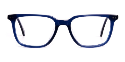 navy blue rectangular wayfarer full rim glasses frames