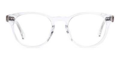 crystal clear and transparent full rim round glasses frames