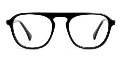 designer black aviator wayfarer full rim glasses frames