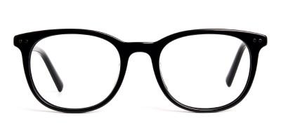 black acetate round wayfarer full rim glasses frames