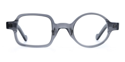 Asymmetric Round and Square Eyeglasses