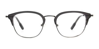 Wayfarer & Browline Gunmetal Silver Grey Translucent glasses
