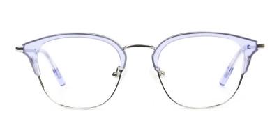 Silver & Crystal Periwinkle Purple Glasses
