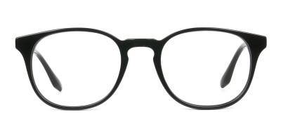 Black Wayfarer Style Glasses in Thin Frame