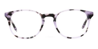 Keyhole Pastel Purple Tortoise Glasses in Wayfarer