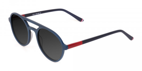Blue and Turquoise Green Frame Sunglasses - 3