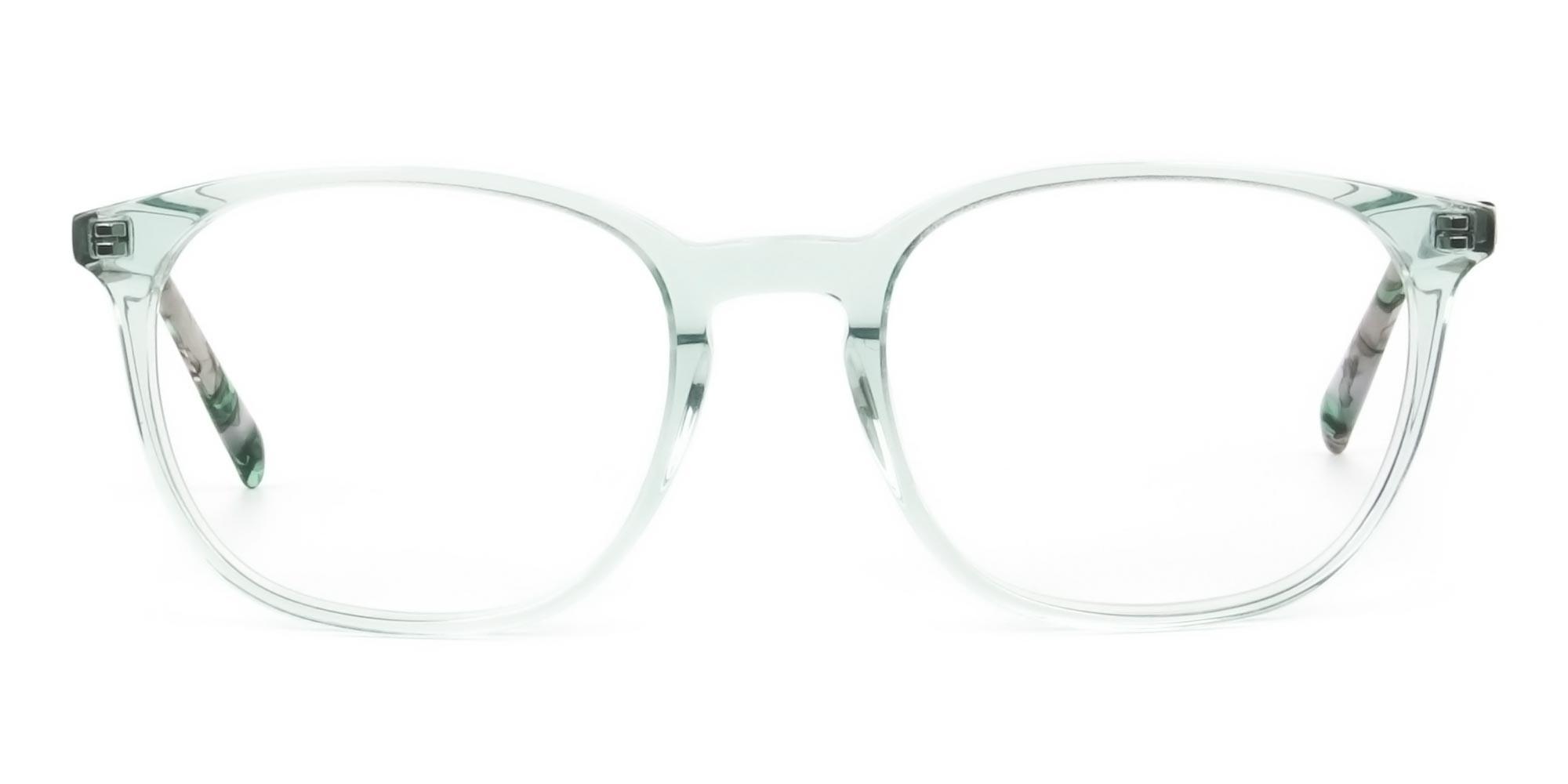 Teal Crysral Green Glasses in Wayfarer - 1