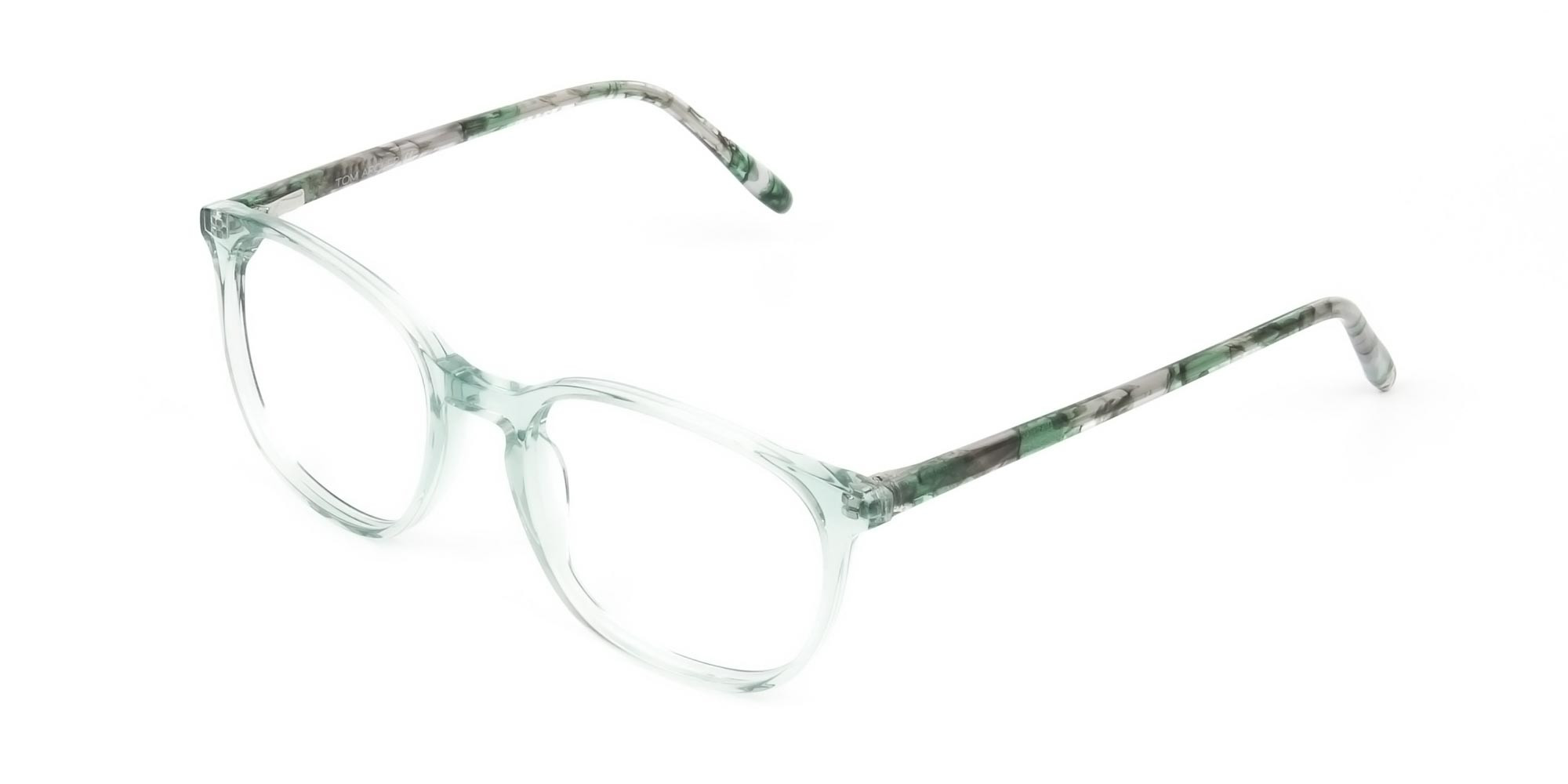 Teal Crysral Green Glasses in Wayfarer - 3