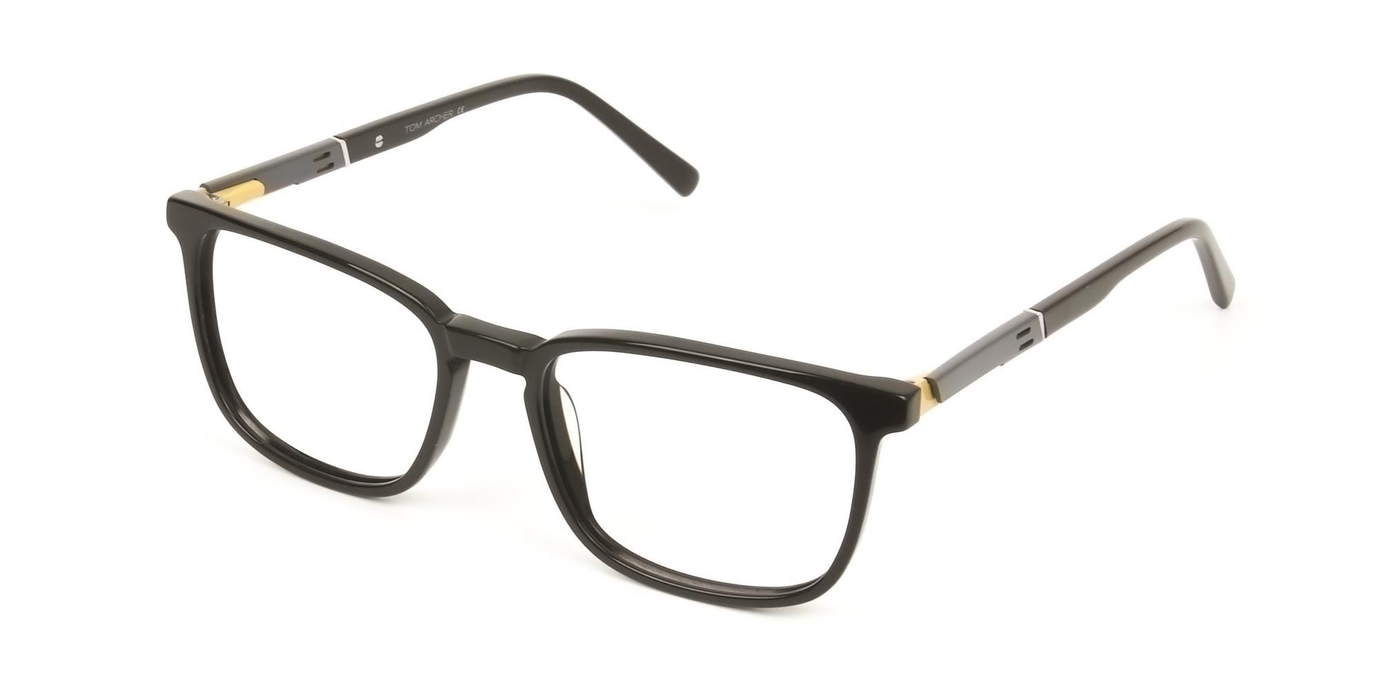 Lightweight Dark Brown Sport Style Rectangular Glasses - 3