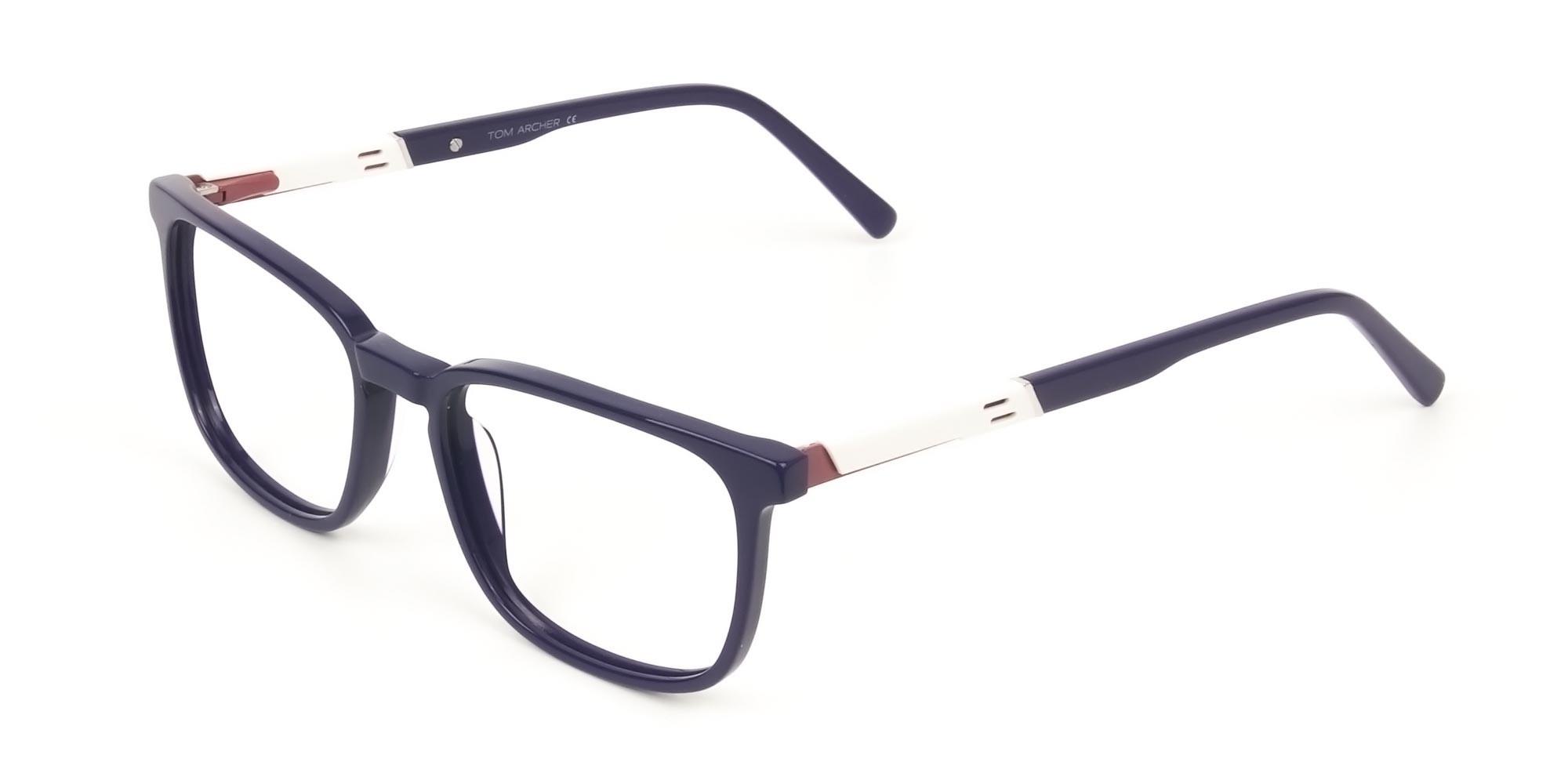Lightweight Royal Blue Sport Style Rectangular glasses - 3