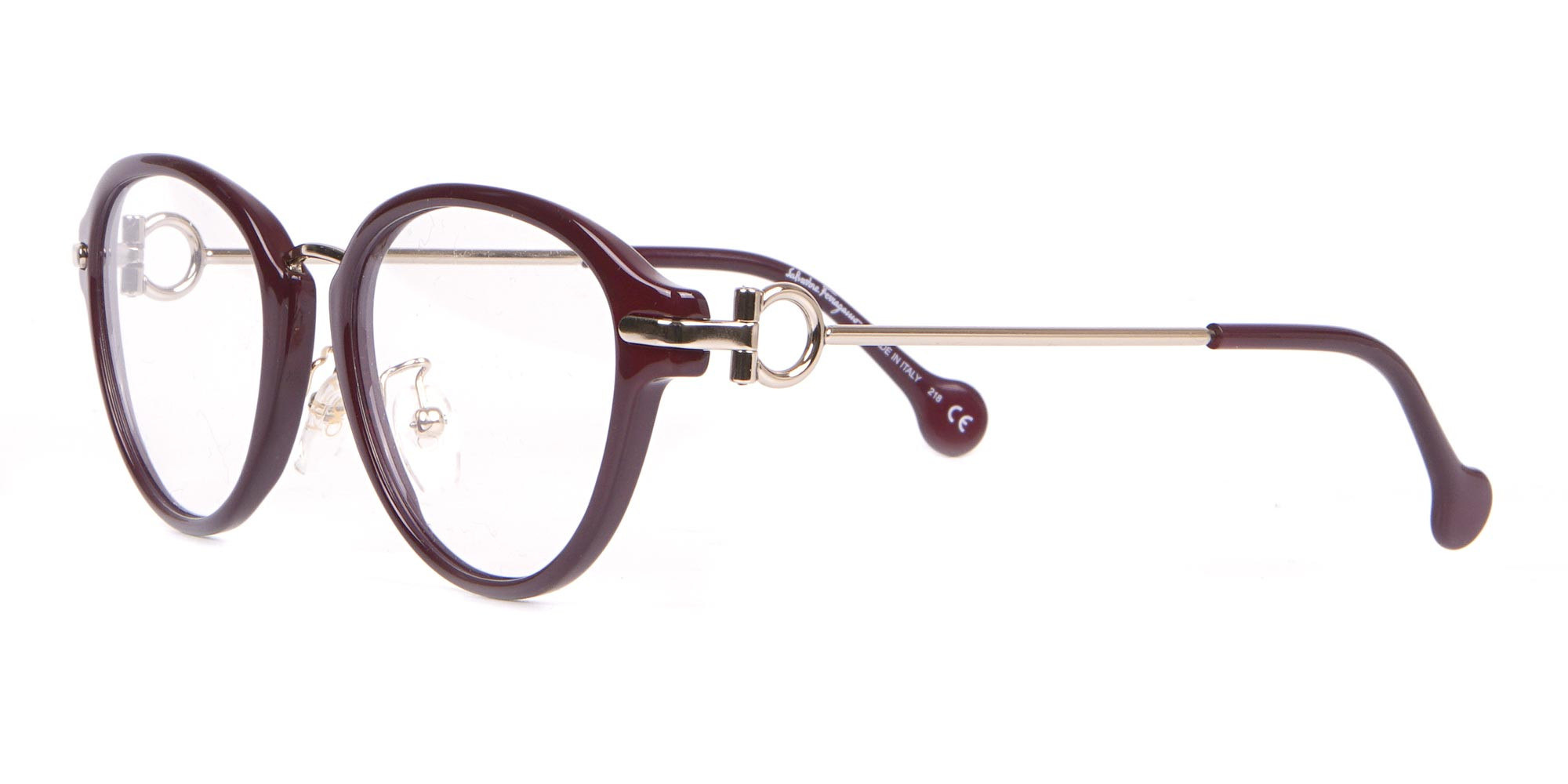Salvatore Ferragamo SF2826 Women Round Glasses Burgundy-3