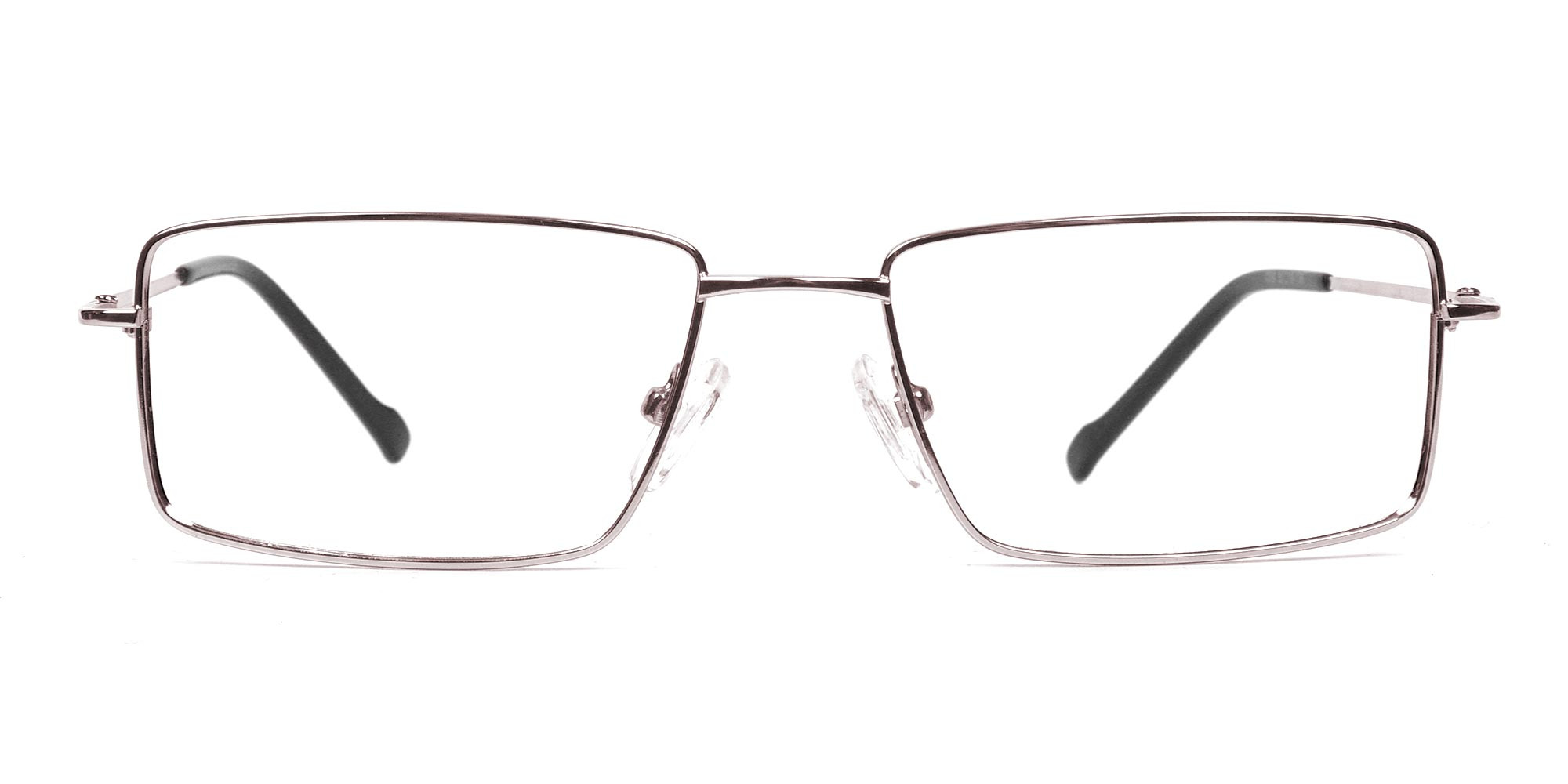 Rectangular Glasses in Silver, Eyeglasses -1