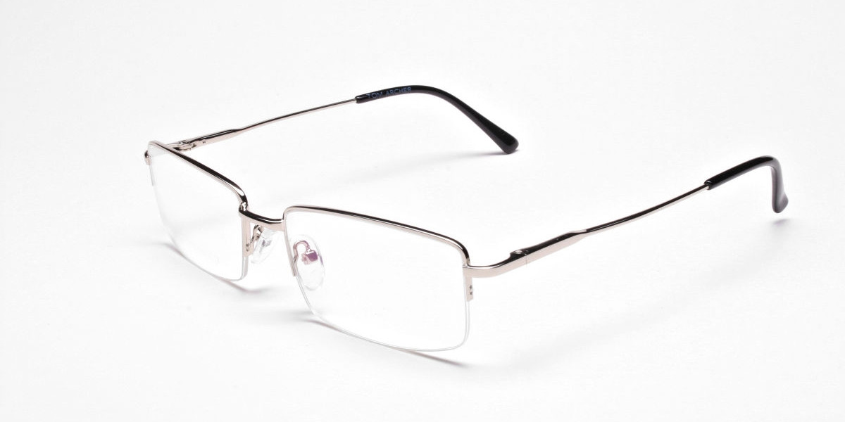 Rectangular glasses in Silver, Eyeglasses - 3