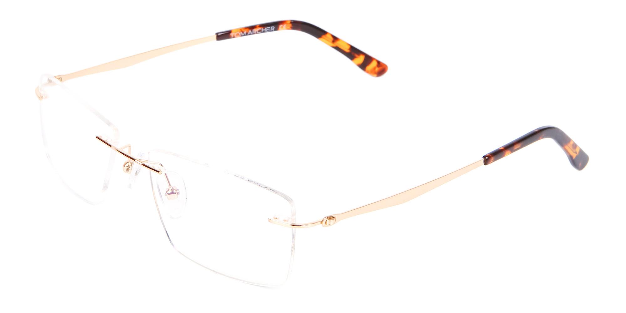 Gold Rimless Glasses Men & Women-3