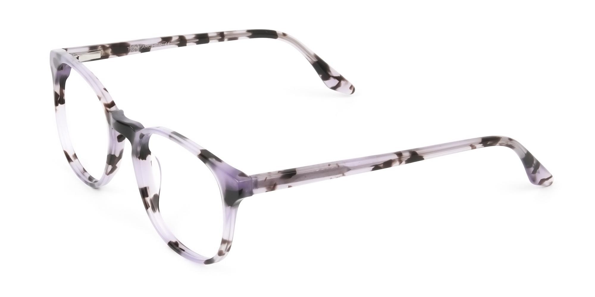 Keyhole Pastel Purple Tortoise Glasses in Wayfarer -3