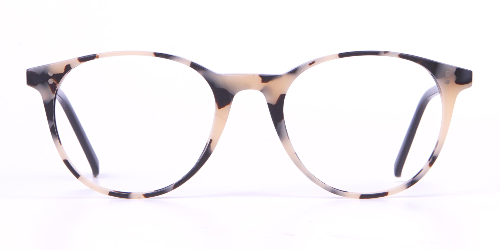 Hackett Cream Tortoise Round Glasses