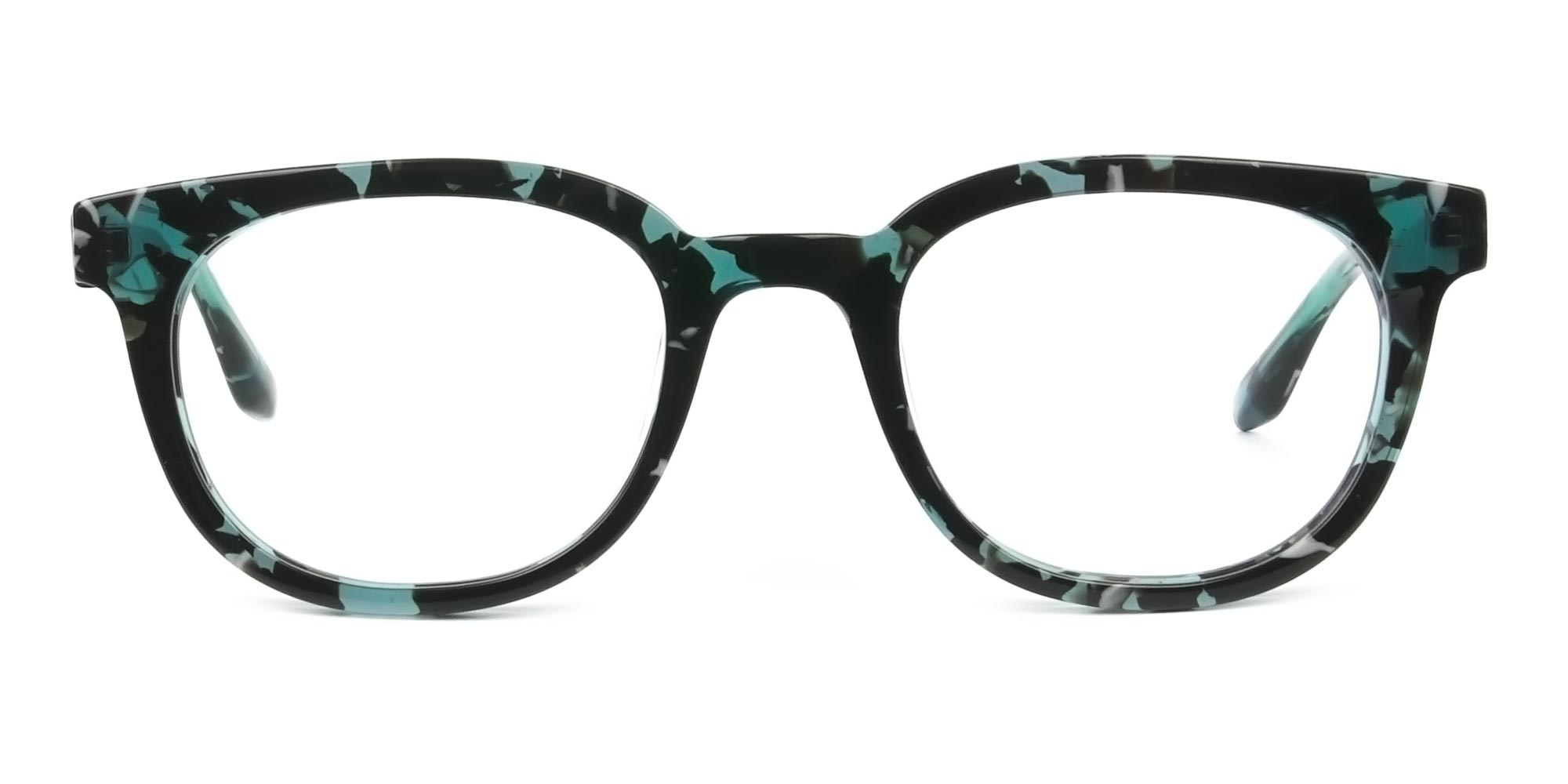 Hipster Tortoise Turquoise Green Glasses