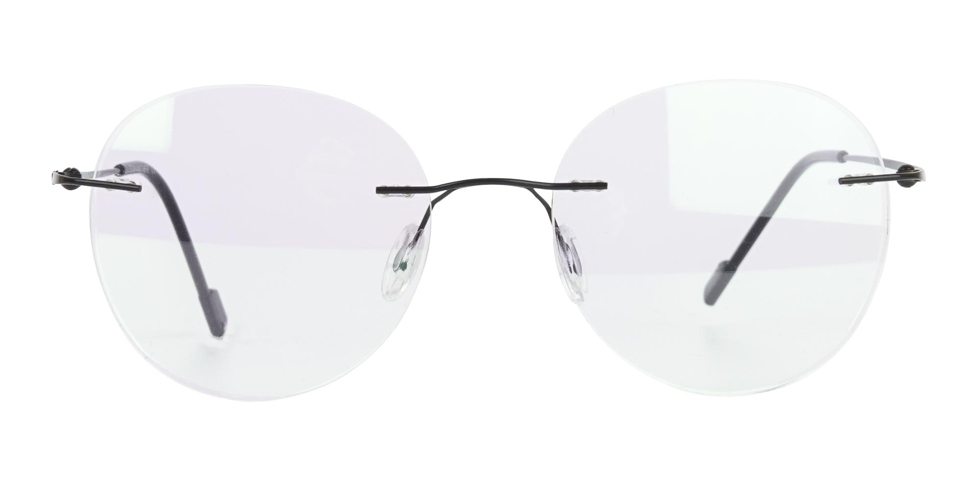 round rimless glasses for oval face shape