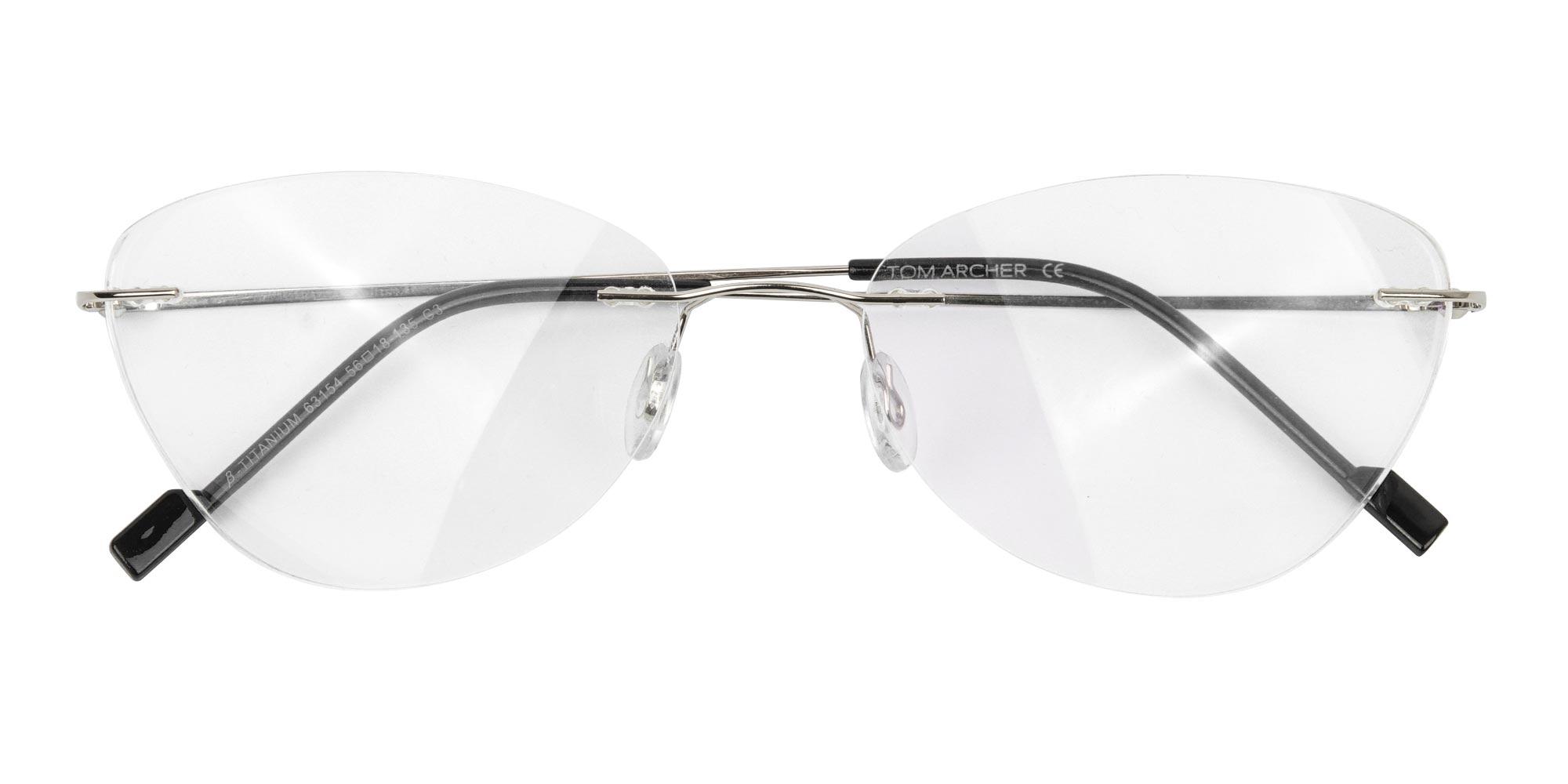 Cat-Eye Rimless Glasses