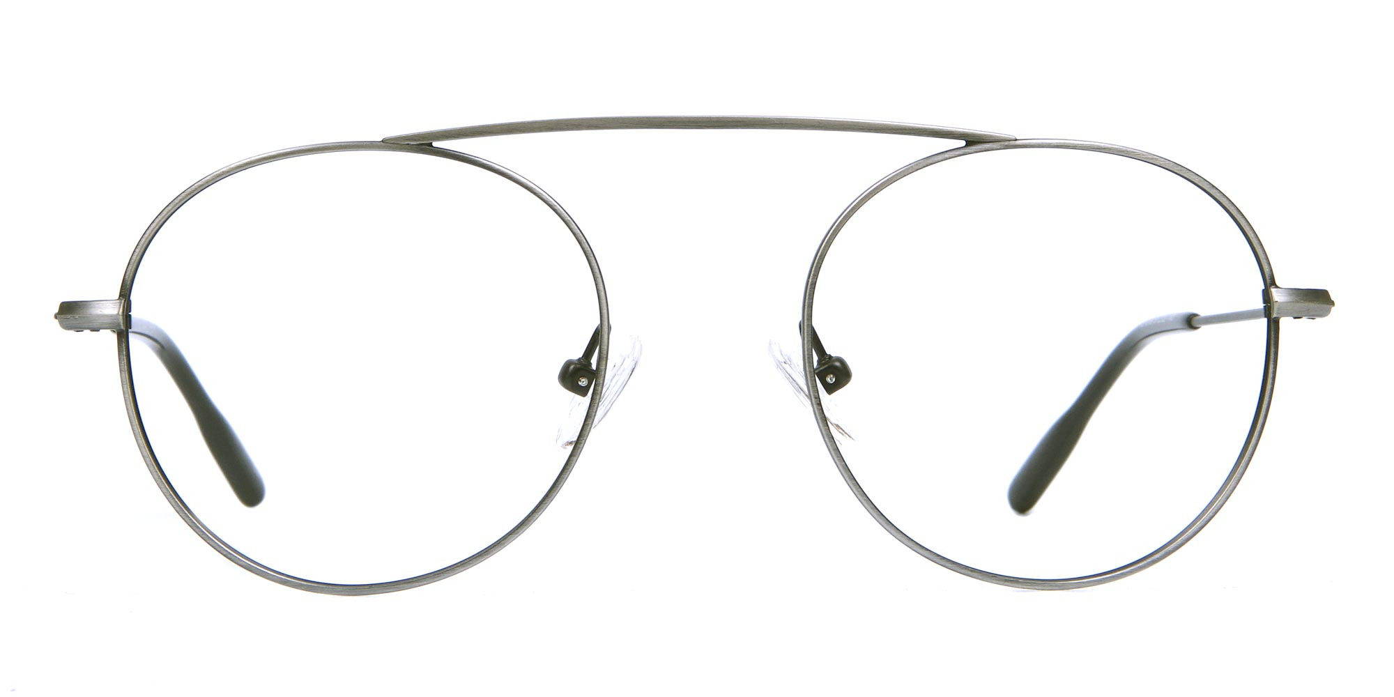 Gunmetal Glasses in Round and Aviator for oval face