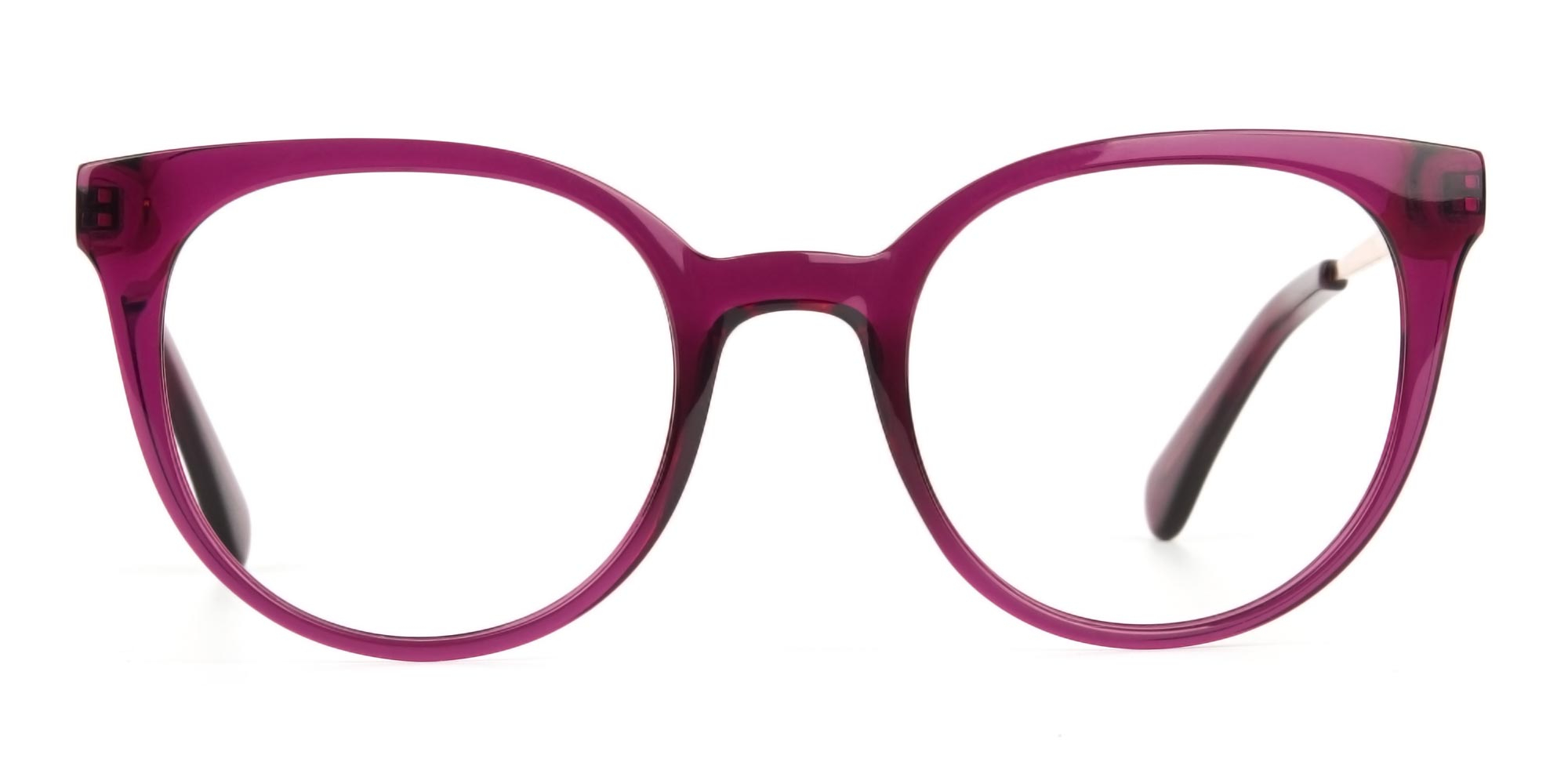 magenta cat eye glasses for triangle face shape