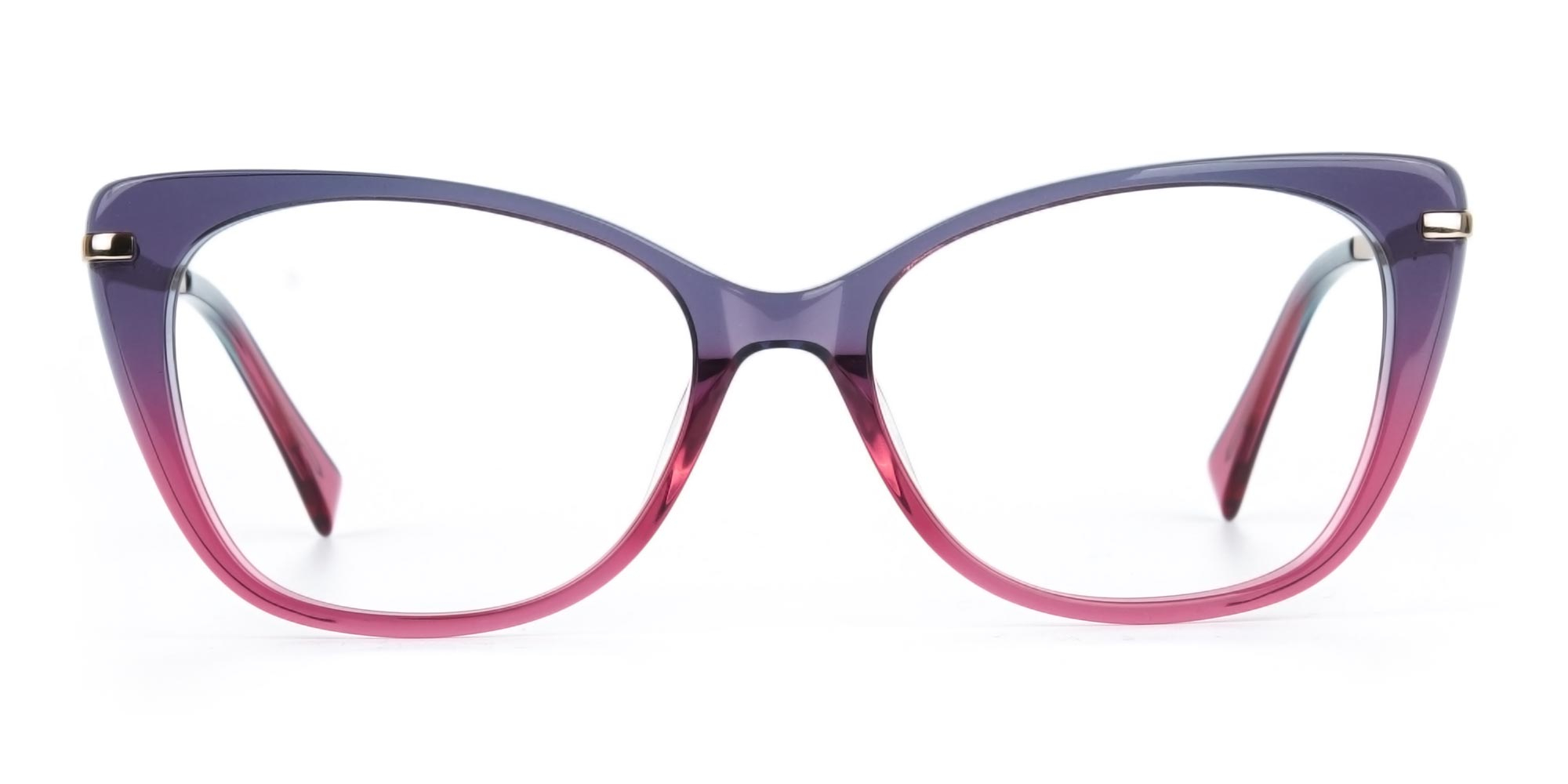 Dusty Purple and Magenta Eyeglasses for diamond face shape