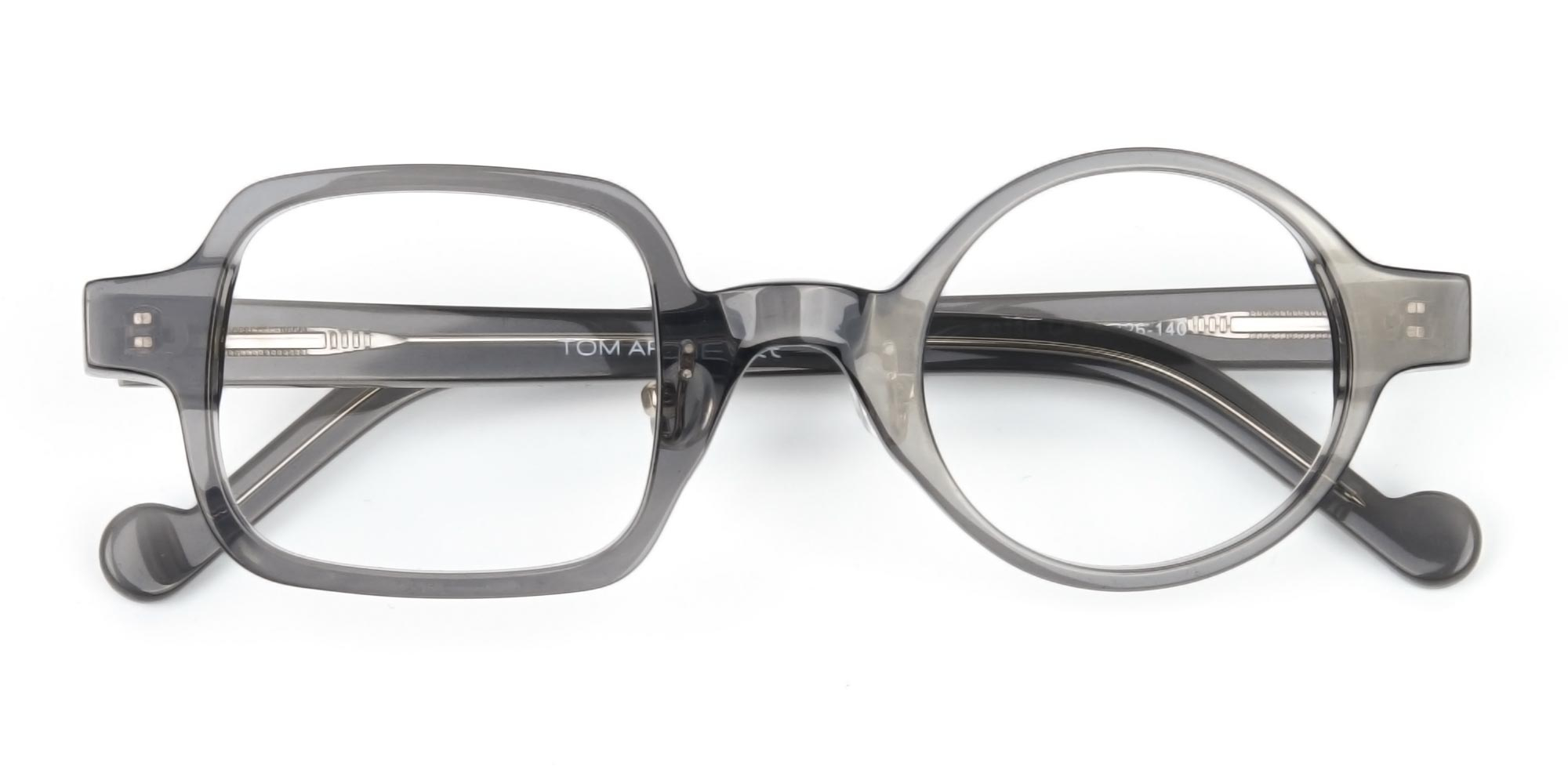 Stark Glasses with One Square & One Round Lens
