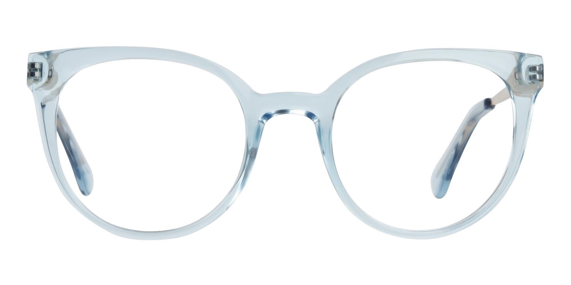powder blue cat eye glasses trends