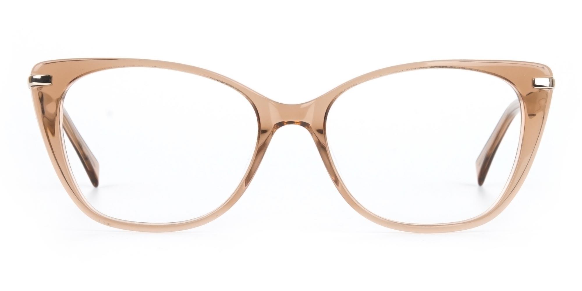 Brown Crystal Eyeglasses