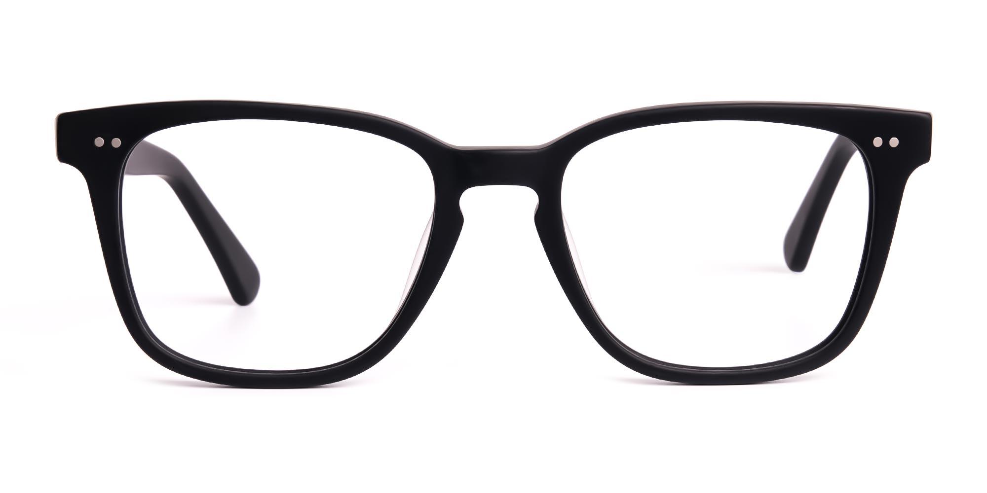 Black Elegant Wayfarer Full Rim Glasses