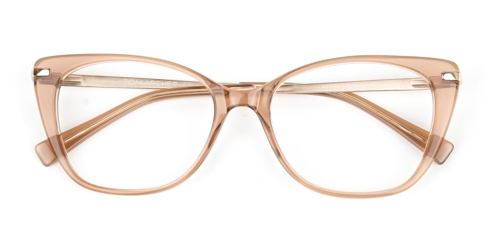 Brown Crystal Eyeglasses Wayfarer and Cat-Eye