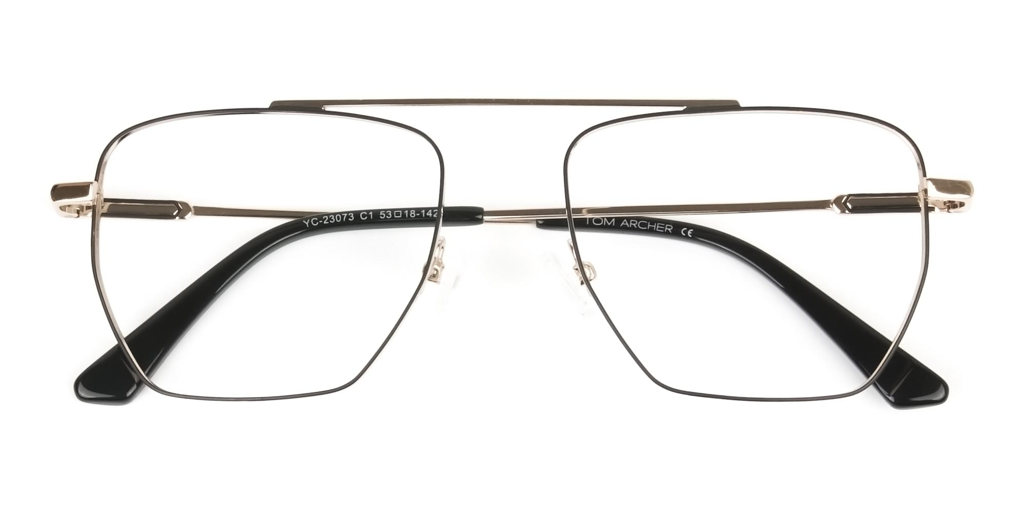 Black and Gold Wire Frame Glasses