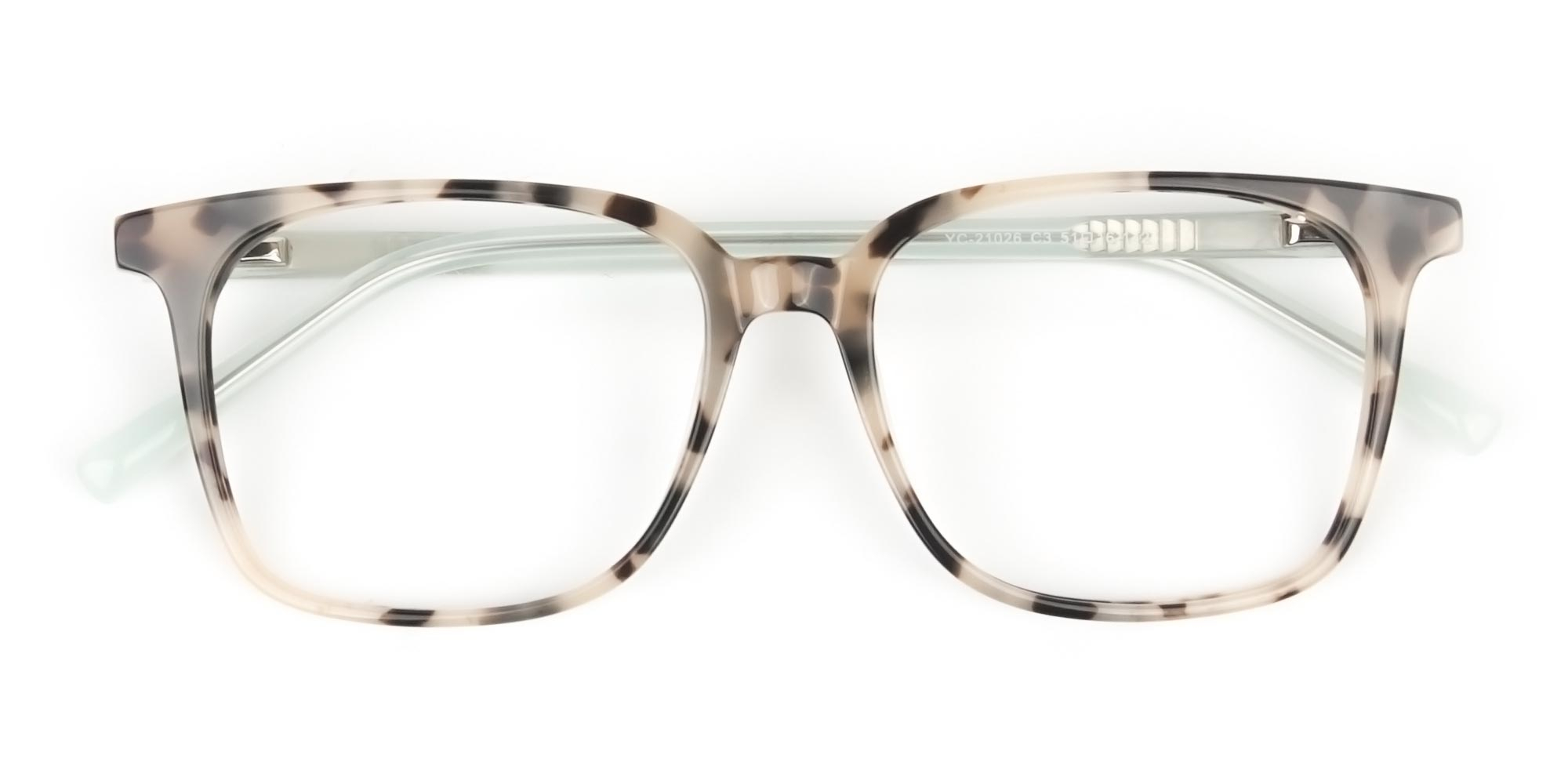 Oversized Glasses in Creamy Tortoiseshell