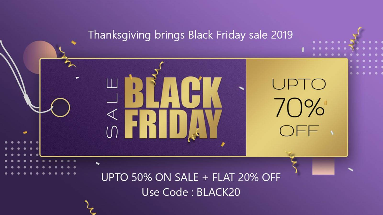Spread smiles & more care-The Black Friday sale is here