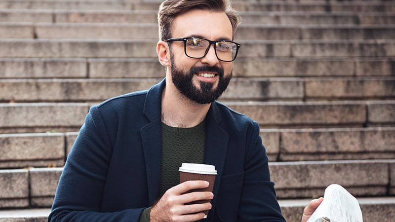 Bearded Men Fashion | Glasses to suit your rugged look