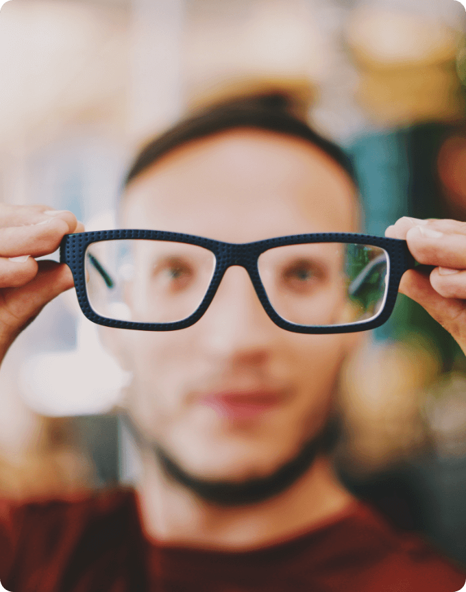 Evergreen Retro Style Black Glasses