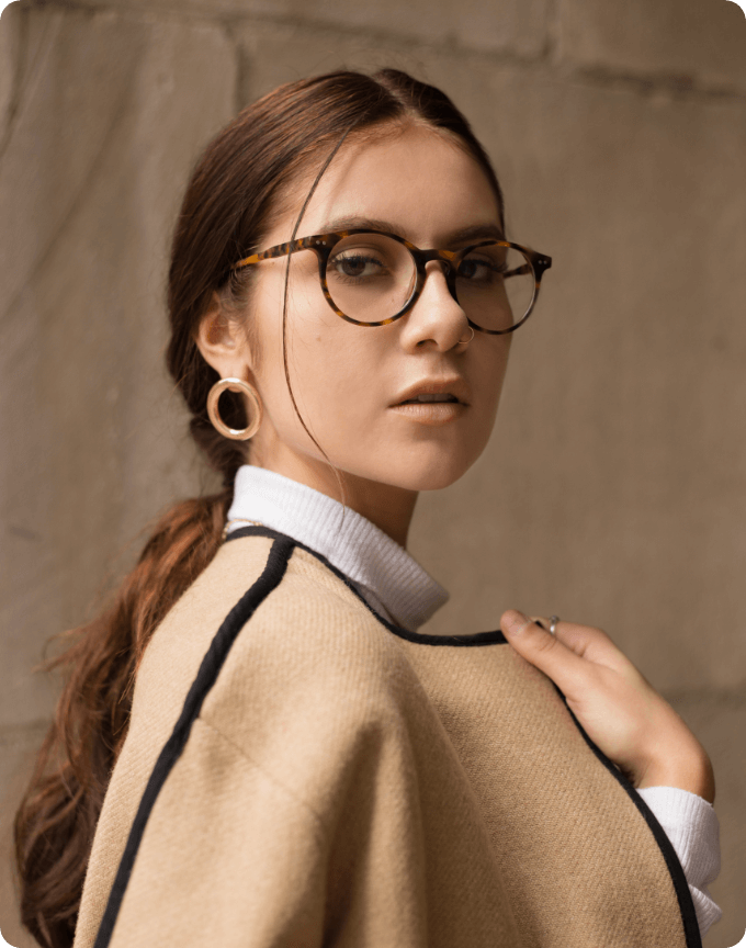 Unique Spotty Black Glasses