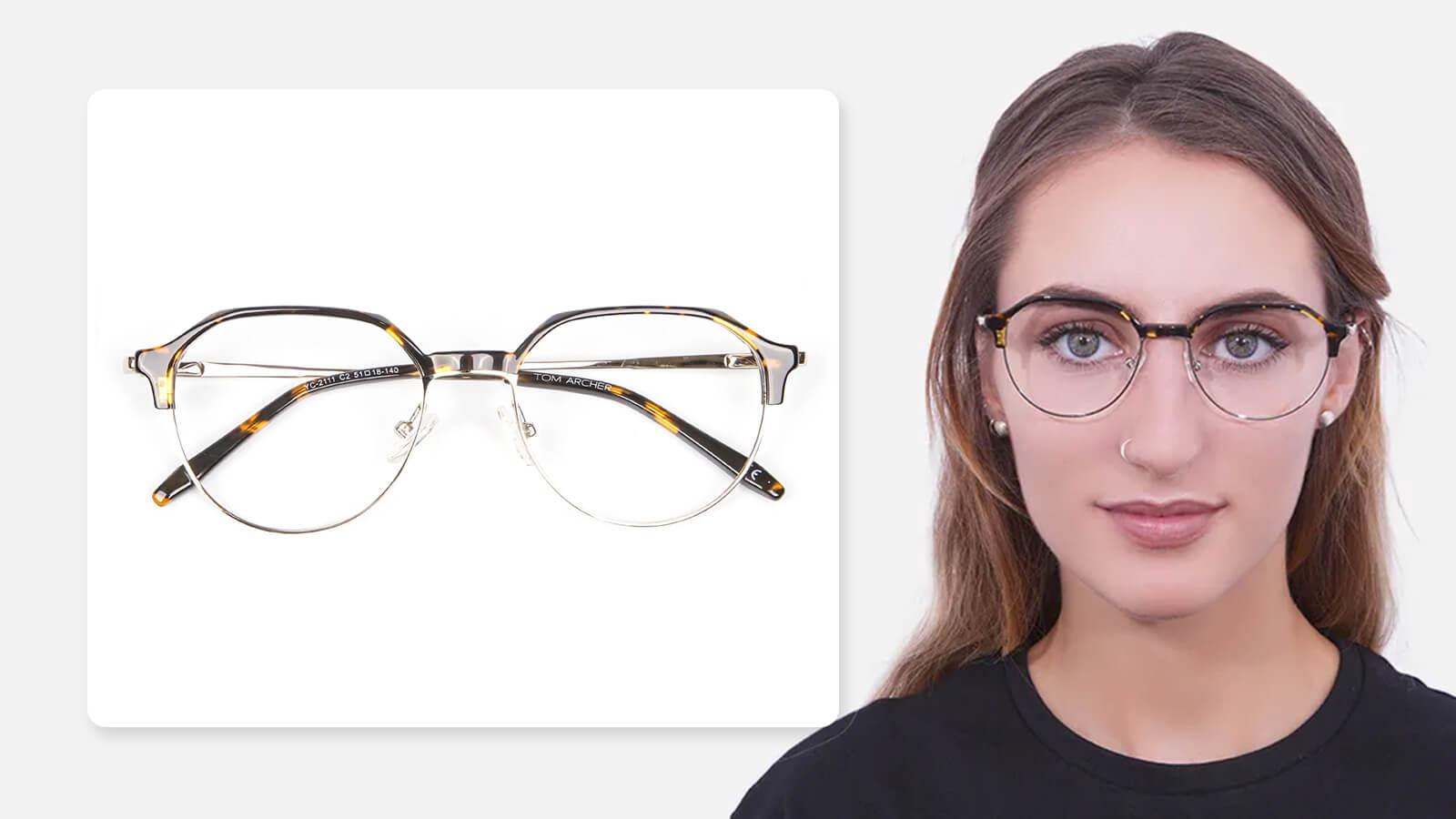 Brow-defining browline frames