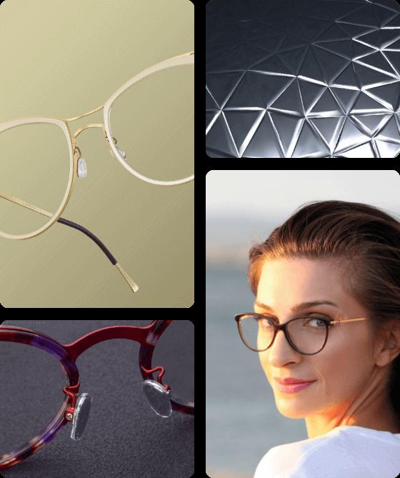 Cat Eye Glasses Mixed Material