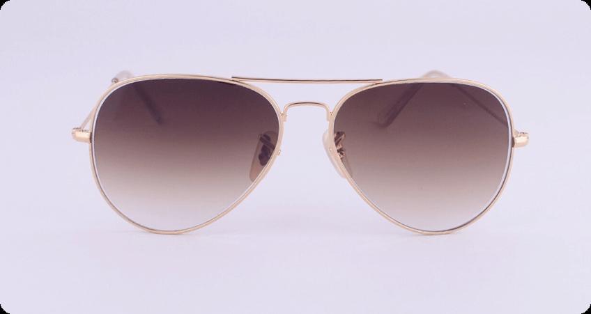 Double Bridge Sunglasses gradient tinted