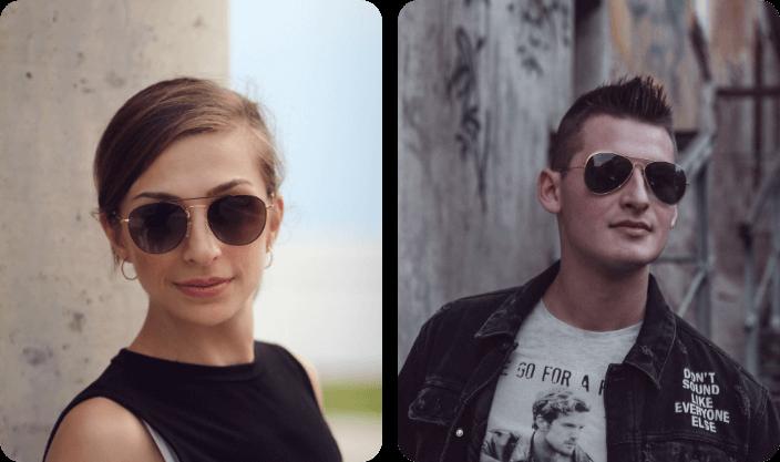 Double Bridge Sunglasses for men women