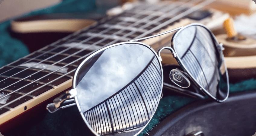 Double Bridge Sunglasses reflected coating