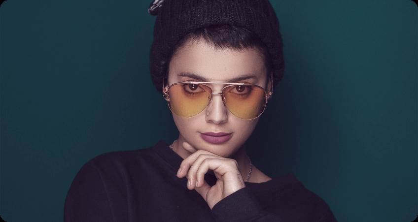 Tinted Double Bridge Sunglasses
