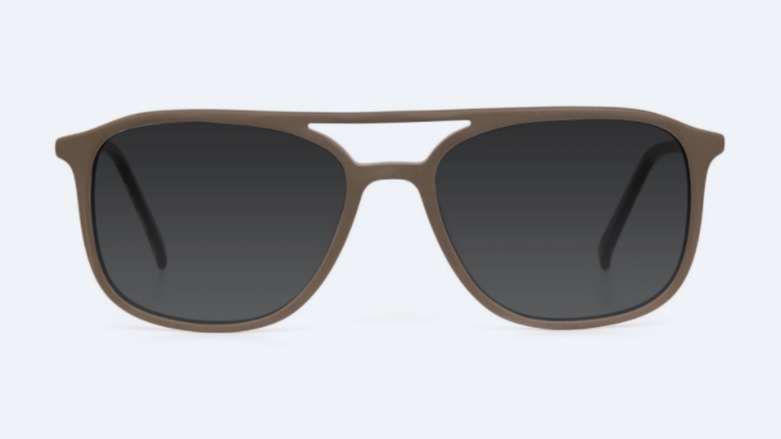 Double-bridge Rectangular Sunglasses